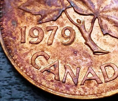 1979 Canada Small Cent Penny ***Double Date*** Free Combined Shipping