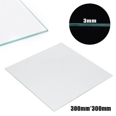 300X300X3mm Borosilicate Glass Heated Bed Plate For RepRap Prusa 3D Printer