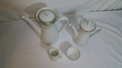 Rosenthal Continental Gala Blue Coffee Pot + MINI w/Lid Cream and sugar lot of 6