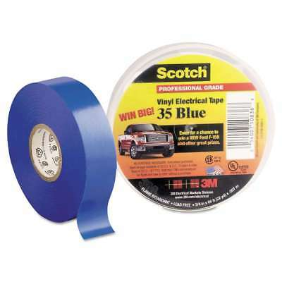 "3M Scotch 35 Vinyl Electrical Color Coding Tape, 3/4"" x 66ft, Bl 054007108368"