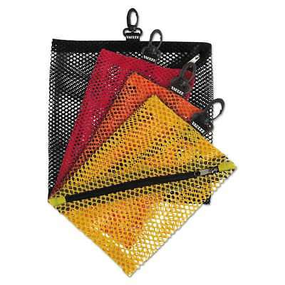 Vaultz® Mesh Storage Bags, Assorted Colors, 4/PK 826030012116