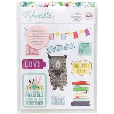 Shimelle Little By Little Stickers 8-Page Book Clear, Washi, Card 718813783583