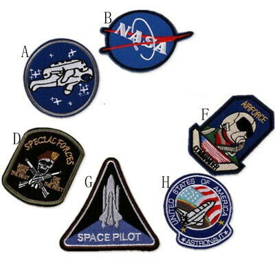 2pcs NASA embroidered patch space astronaut spaceship Cloth clothing accessories