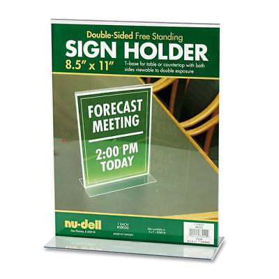 NuDell Acrylic Sign Holder, 8 1/2 x 11, Clear 042122380202