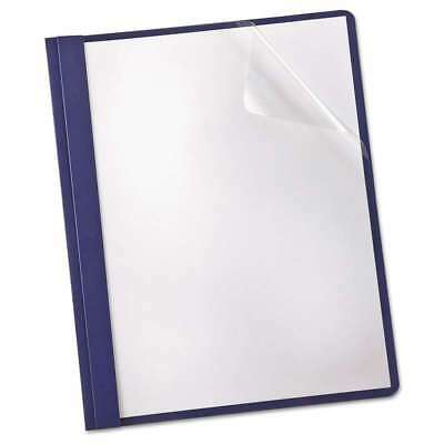 Oxford Linen Finish Clear Front Report Cover, 3 Fasteners, Lette 078787533431
