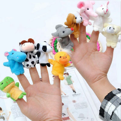 Fine 10 Pcs Finger Puppets Cloth Doll Baby Educational Hand Cartoon Animal Toy