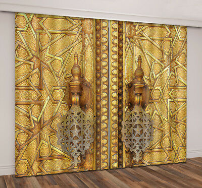 3D Antique Morocco Palace Door Blockout Photo Print Curtain Fabric Window Drapes