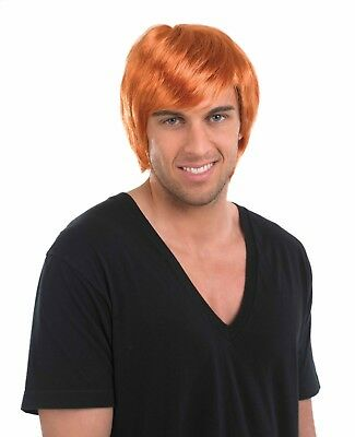 Mens Ginger Boy Band Wig Accessory For Chucky 90s Fancy Dress Adults Male