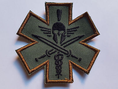Spartan Medic Tactical Morale Patch Airsoft Paintball Polizei Swat Military Army