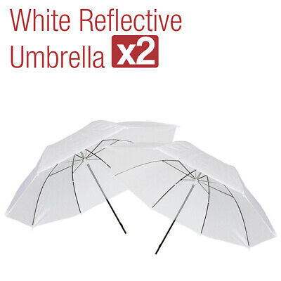 "2 x 33"" White Photography Light Photo Studio Video Translucent Soft Umbrella"