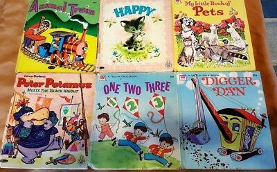 Lot Of 6 Vintage Tell-a-Tale Books - Collectible Children's Books