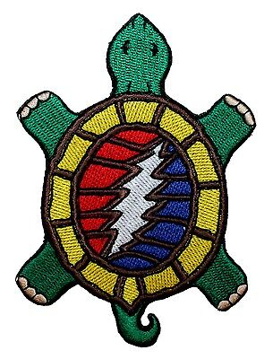 Grateful Dead Steal Your Terrapin Turtle Rock Music Icon Iron On Applique Patch