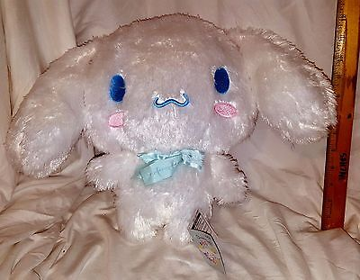 New Sanrio Cinnamoroll Double Lace Big Plushy! Blue Ribbon! Japan! Us Seller!