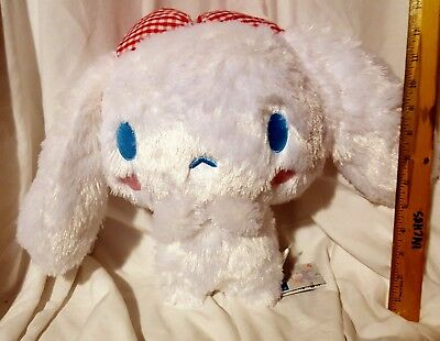New Sanrio Cinnamoroll Gingham Check Red Lace Big Plush! Japan! Free Ship!