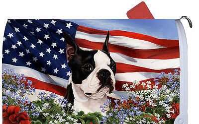 Patriotic Mail Box Cover - Boston Terrier 09032