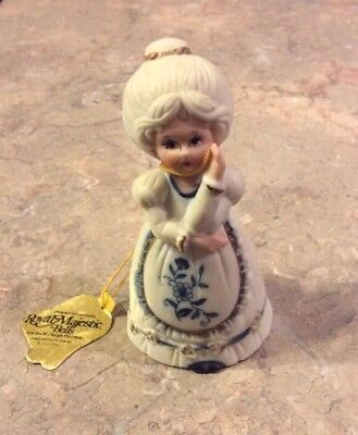 Royal Majestic Bell's Fine Bisque Porcelain Old Lady With Original Tag