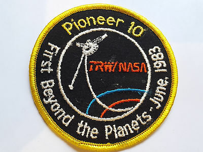 Nasa Raumfahrt Space Aufnäher Patch Pioneer 10 First Beyond The Planets 1983