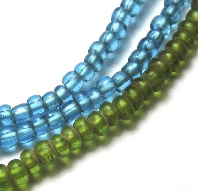 """21"""" Strand Of Rare Amazing Old Tiny Mixed Venetian Antique Beads African Trade~"""