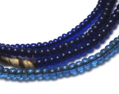 """19"""" Strand Of Rare Amazing Old Tiny Mixed Venetian Antique Beads African Trade~"""