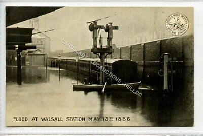 (Ld5420-183) L & NWR,  Flood at WALSALL Railway Station 1886, Unused VG-EX