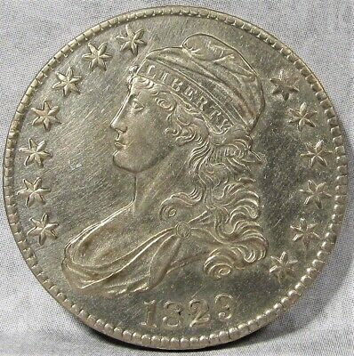 1829 Capped Bust Half Dollar CH AU Details Very Lustrous! AD490