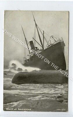 (Ld8390-475) Ship Wreck at RAVENSCAR 1905, Used VG