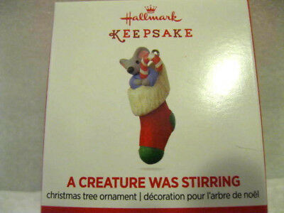 2017 Hallmark Miniature A CREATURE WAS STIRRING #2 IN THE SERIES Mouse Stocking
