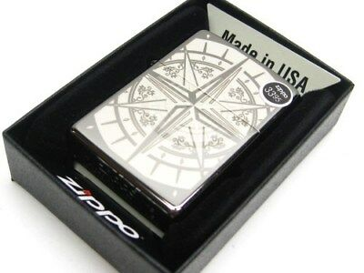 ZIPPO Full Size Black Ice Finish COMPASS Classic Windproof Lighter New! 29232