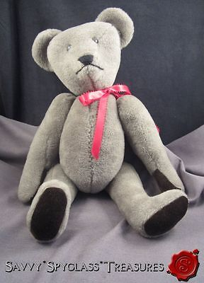 "OOAK  Kathy Nerison 1984 Hand Crafted 17"" Jointed Teddy Bear Artist Signed"