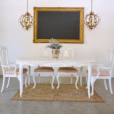 Shabby Cottage Chic Stunning Dining Table With 1 Leaf Vintage French Style