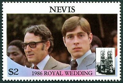 NEVIS 1986 $2 SG409 mint MNH FG Royal Wedding Omnibus Issue 1st issue a1