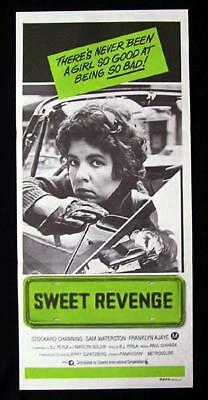 SWEET REVENGE Daybill Movie poster 1976 Stockard Channing SAM WATERSTON
