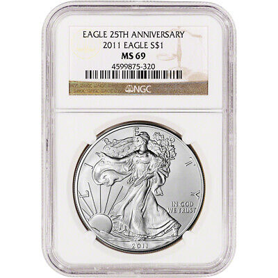 2011 American Silver Eagle - NGC MS69