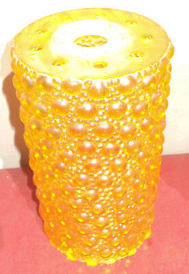 Vintage 50s- 60s psychedelic GOLD hobnail plastic ceiling light shade #2