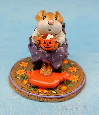 HOT COCOA HALLOWEEN by Wee Forest Folk, WFF# M-269 - Retired Limited Edition