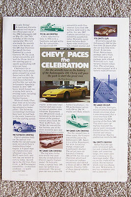 Ad-Article ~ 1986 Corvette ~ Indianapolis 500 Pace Car