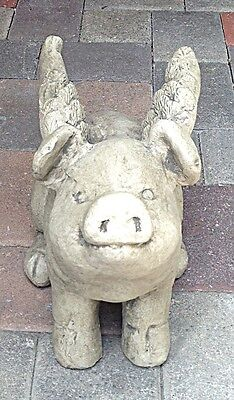 When Pigs Fly Garden Yard Outdoor Statue Pig with Wings Large Size