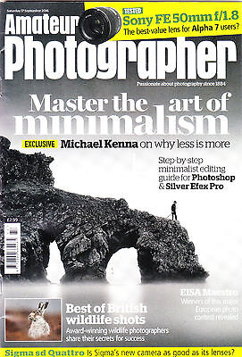 Amateur Photographer magazine with Sigma SD Quattro camera tested  17 Sept  2016