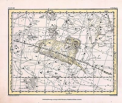 1822 ASTROLOGY ATLAS Print poster old chart AIRES constellation RAM ZODIAC 21