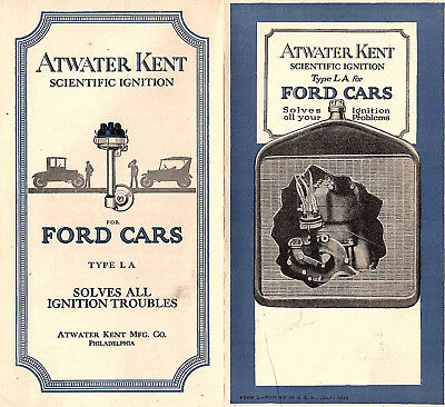 Atwater Kent Scientific Ignition Type LA for Ford Cars Vintage 1923 Pamphlet