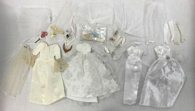 Barbie Wedding Mixed Lot Gowns Dresses Accessories by Mattel