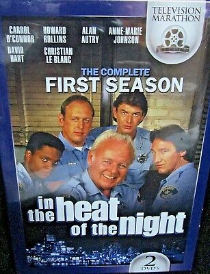 In the Heat of the Night: Complete Season One NEW! 2 DVD BOX  ,Carroll O'Connor