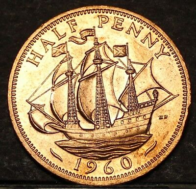 Great Britain Half Penny. 1960, Free Shipping*