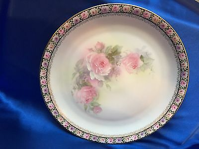 Z.s. & Co. Royal Munich Hand Painted Plates & Creamer Pink Roses