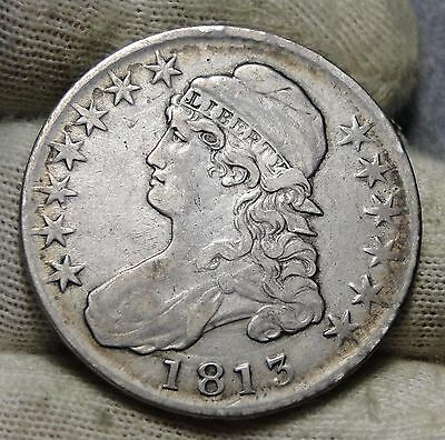 1813 Capped Bust Half Dollar 50 Cents - Nice Coin, Free Shipping (5687)