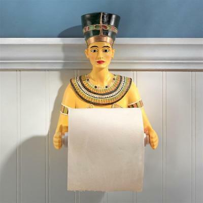 Egyptian Royal Queen Nefertiti Sculptural Bathroom Toilet Tissue Holder
