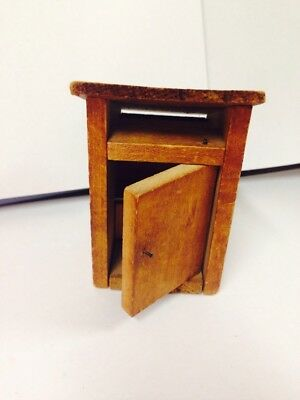 Mini Handmade Wooden Outhouse with Opening Door Vintage