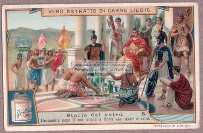 Ancient Egyptian Glass Offered To Roman Emperor  c1910 Trade Ad Card