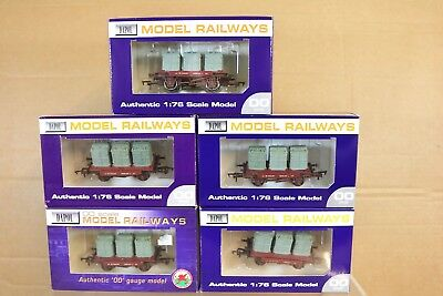 Triang Hornby Dapol R340 Rake 5 Stück BR Container Conflat Waggon verpackt PY
