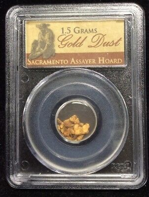 Gold Dust-Sacramento Assayer Hoard (1.5 Grams) PCGS Certified